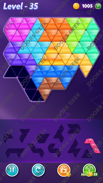 Block! Triangle Puzzle Challenger Level 35 Solution, Cheats, Walkthrough for Android, iPhone, iPad and iPod