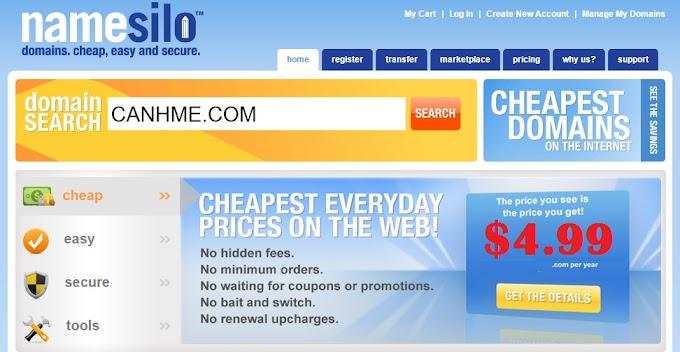NameSilo - Nhà cung cấp tên miền giá rẻ bảo mật cao