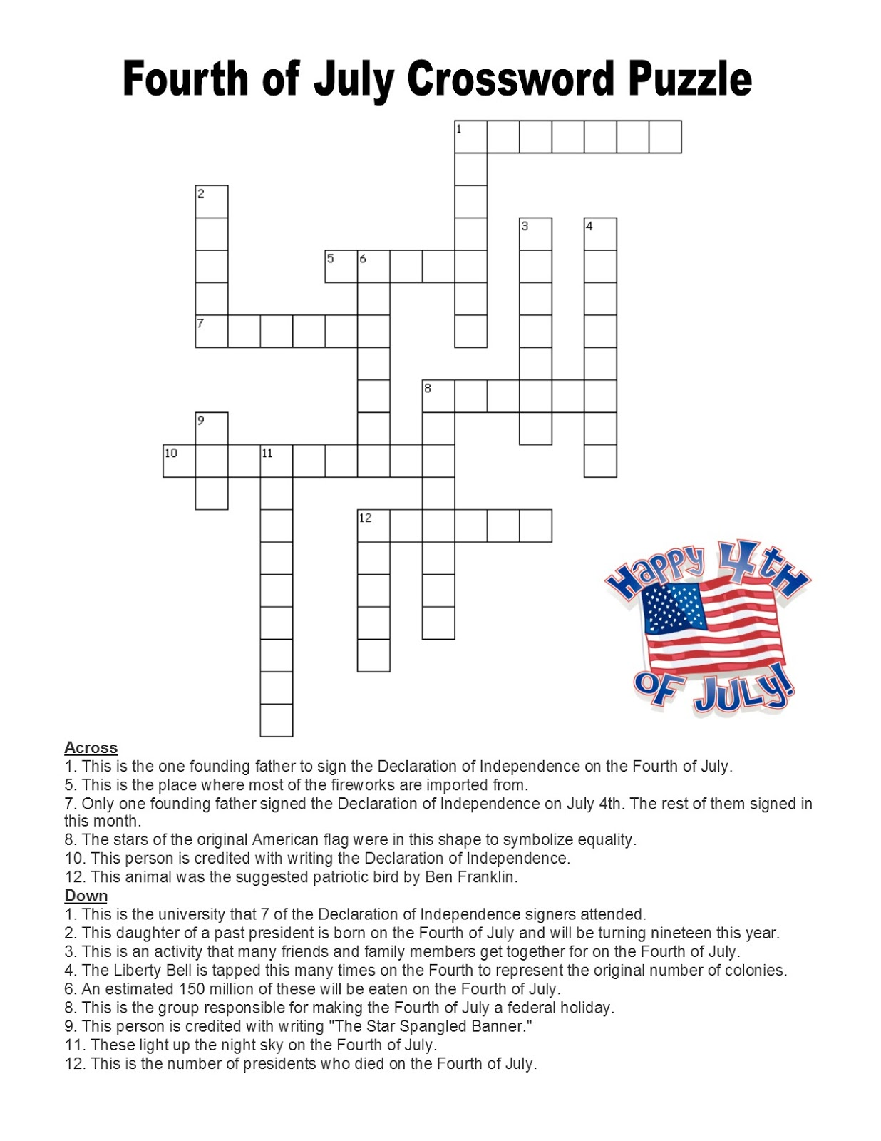 Language Summer Extra Credit Week 3 Fourth Of July