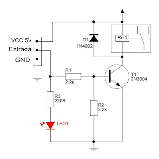 Kit módulo de Relé diagrama eléctrico.