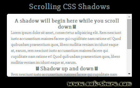 Cara Membuat Kotak Scrollbar Shadow di Blog