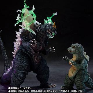 S.H.MonsterArts Space Godzilla y Godzilla Junior - Tamashii Nations