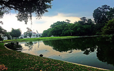 foto danau di Kebun Raya Bogor