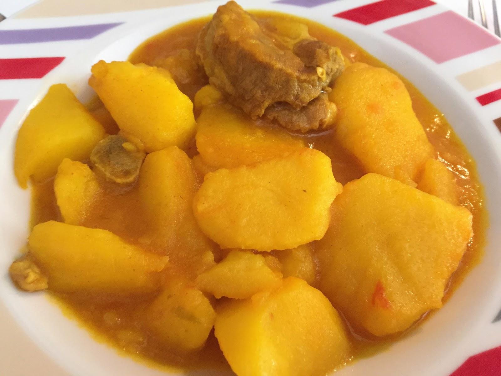 La cocina de merche borjas guiso de patatas y costilla - Lentejas con costillas y patatas ...