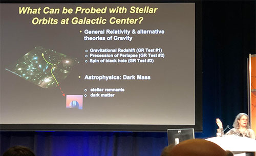 The Galactic Center as unique laboratory for black hole physics (Andrea Ghez, UCLA, at APS Meeting in Denver)