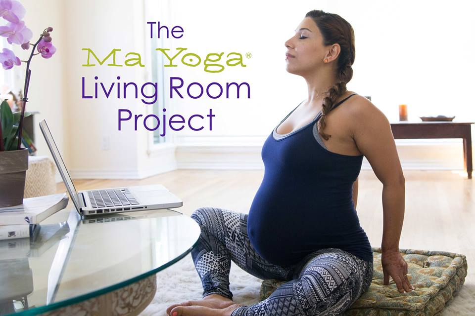 Prenatal yoga with ma yoga living room mommy katie for Living room yoga