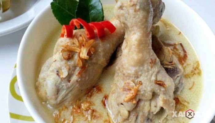 Resep opor ayam putih - Cara membuat opor ayam putih