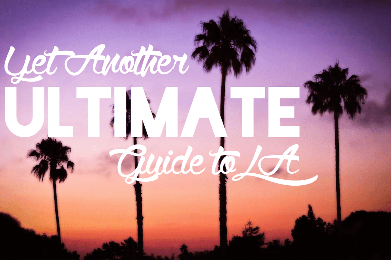 Los angeles guide header