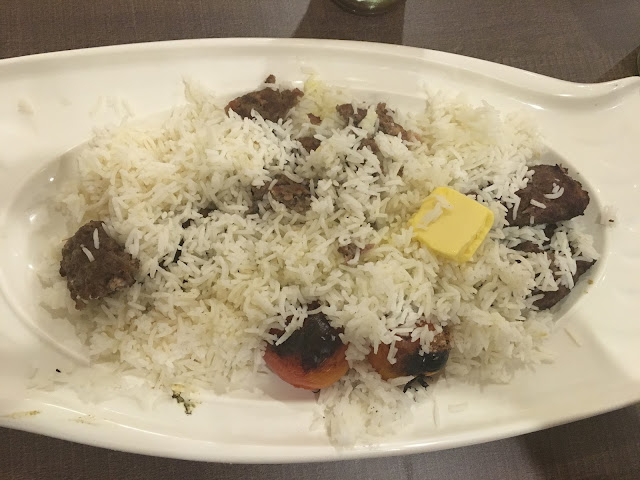 basmati rice with BTO (beef, tomatoes and onions)