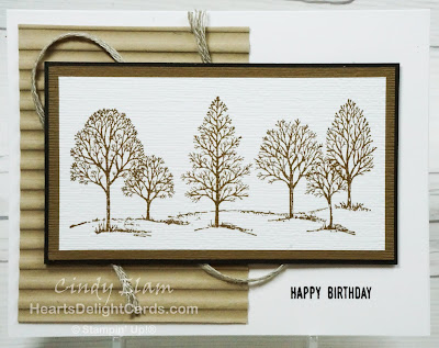 Heart's Delight Cards, Lovely As A Tree, Masculine Card, Stampin' Up!