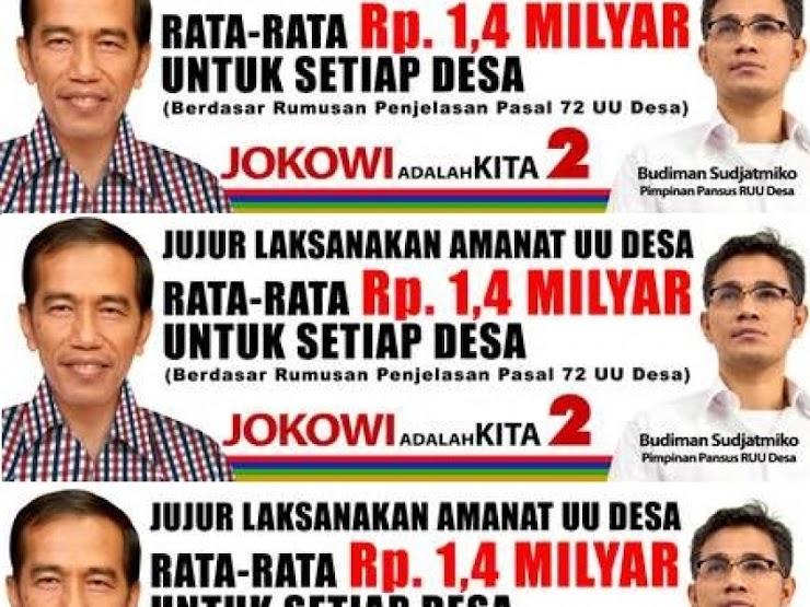 Relawan Tagih Janji Jokowi Soal Dana Desa
