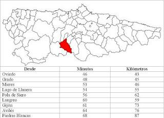 mapa de Teverga