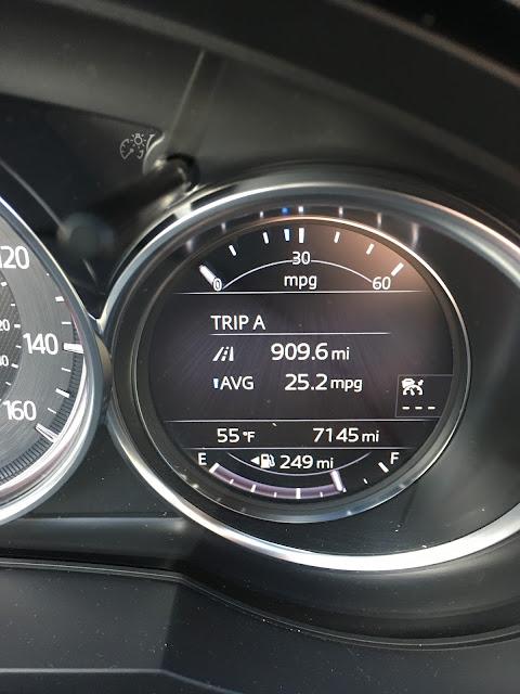 2017 Mazda CX-9 Grand Touring trip computer at Grand Teton