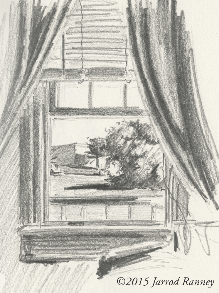 Room Drawing Pencil: Jarrod Ranney: Looking Out