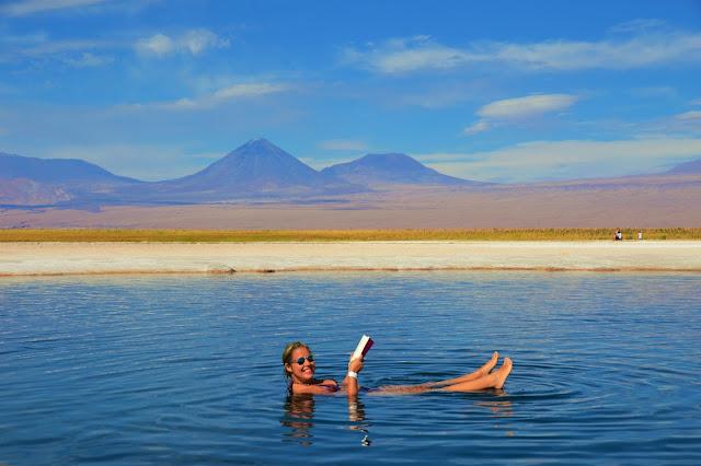 Vamos boiar um pouquinho na Laguna Cejar