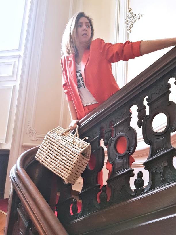 #powerdressing; #damski #garnitur; #torebkakoszyk; #garnitur w kolorze; #suit; #womansuit; #orangesuit