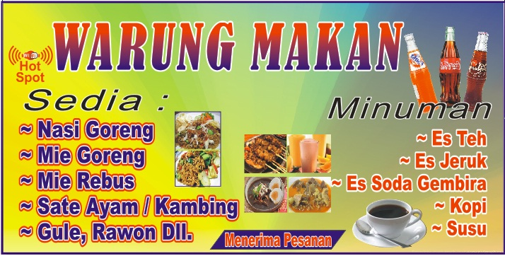 Percetakan Metta Download Contoh Banner Warung Makan Cdr