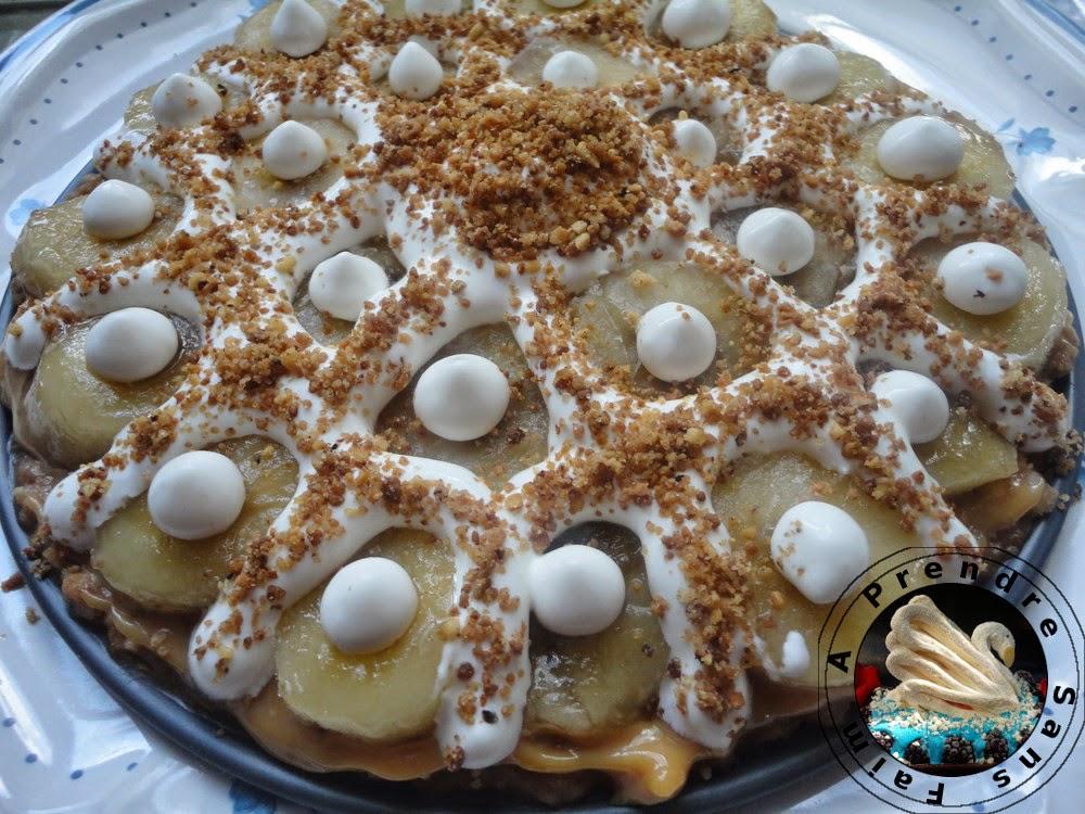 Tarte à la banane «Banoffee pie»
