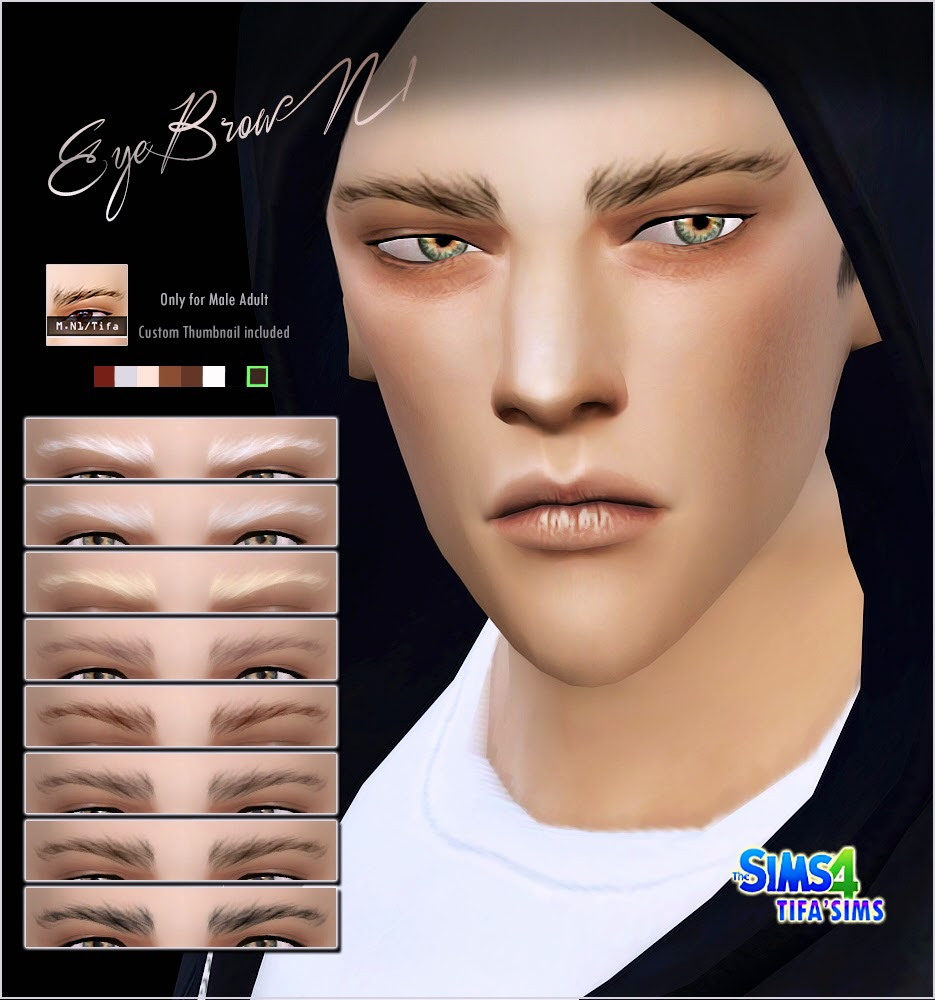 Sims 4 Male Eyebrows
