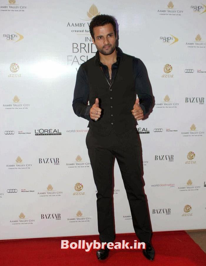 Rohit Roy, Hot Celebs at India Bridal Fashion Week 2013