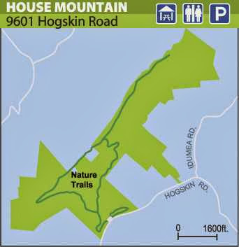 House Mountain Trail Map picture