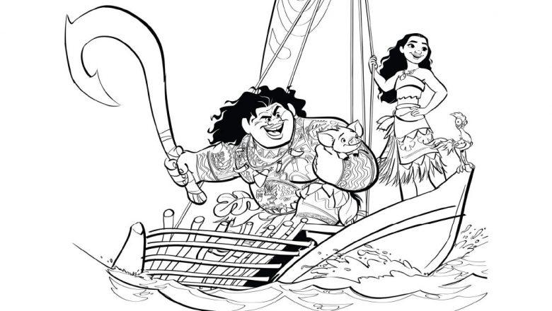 Conhecido Maternar para sempre: Desenhos para colorir Moana - Um Mar de  XD02