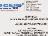 KISI-KISI SOAL UN/UNAS SD/SMP/SMK/SMA/MAN/MTS 2020-2021