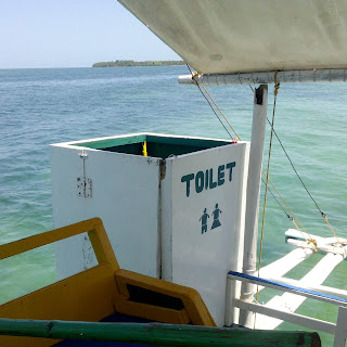 bizarre toilet in the boat