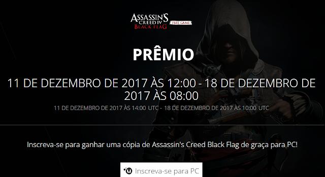 CORRE! Assassin's Creed IV: Black Flag de graça!