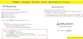 Membuat Tombol Dial Call Phone (Panggil Nomor) Android Studio