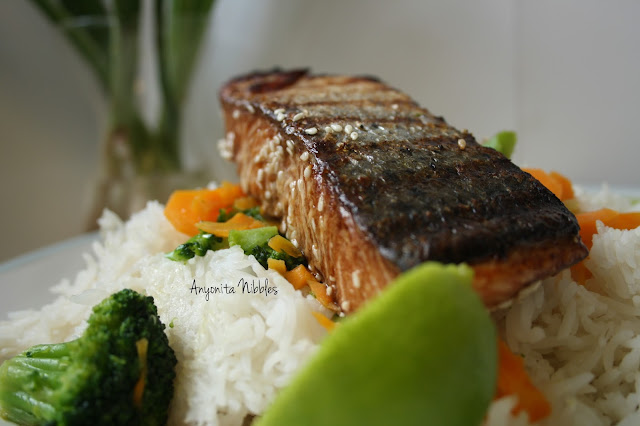 Crispy griddled sesame salmon from www.anyonita-nibbles.com