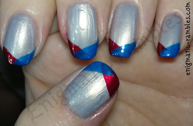 tri-colour-nail-challenge-leighton-denny-be-my-berry-primark-glo-baby-glo-barry-m-retro-blue-funky-french