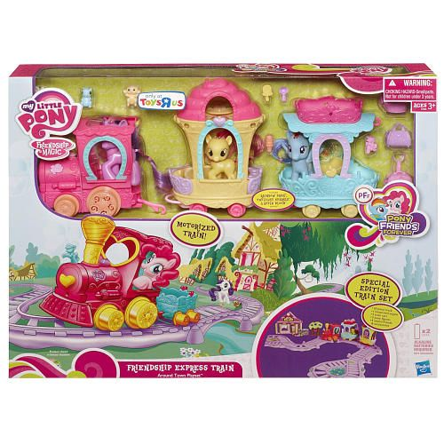 My Little Pony All Around Town Train Playset Apple Bloom Brushable