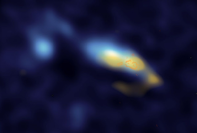Astronomers watch star clusters spewing out dust