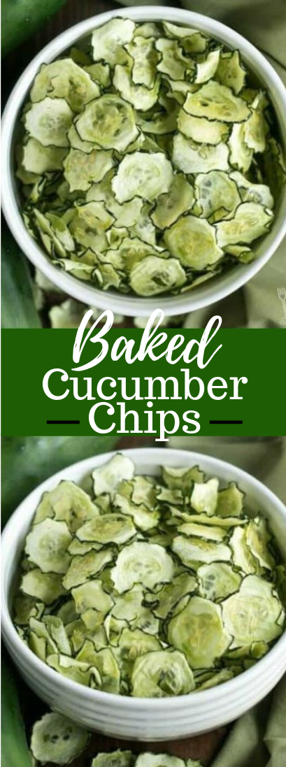 Baked Cucumber Chips #healthy #recipe