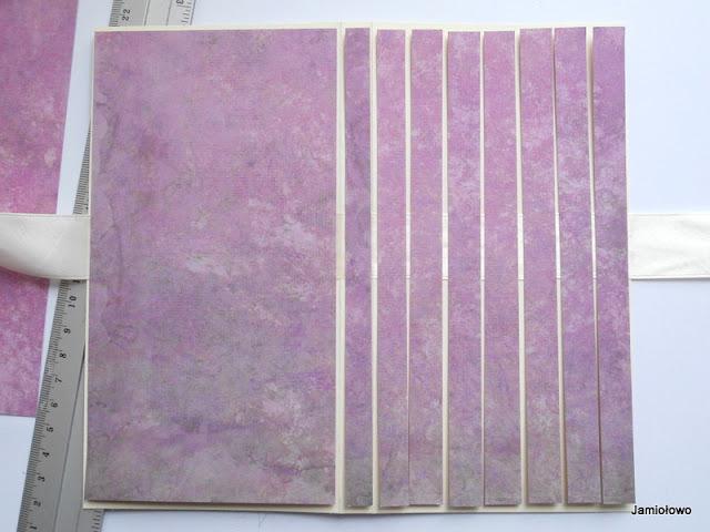 tworzenie imitacji deseczek z papieru scrapbookingowego