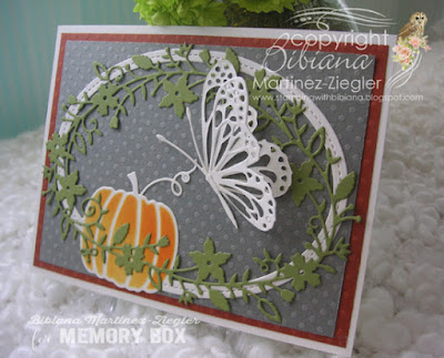Fall butterfly card side view