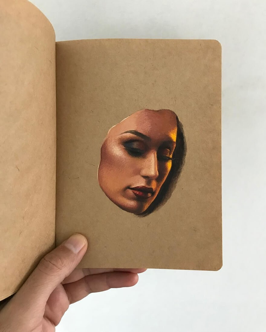 05-Raoof-Haghighi-Gouache-Acrylic-and-Watercolour-Paintings-on-a-Sketchbook-www-designstack-co