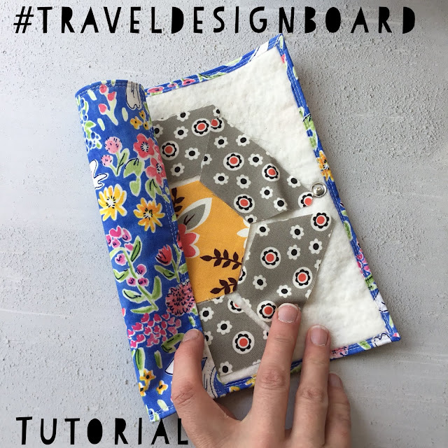 traveldesign board, tutorial, sewing, fabricandflowers