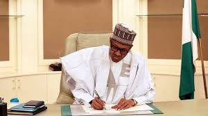 Muhammadu Buhari writing