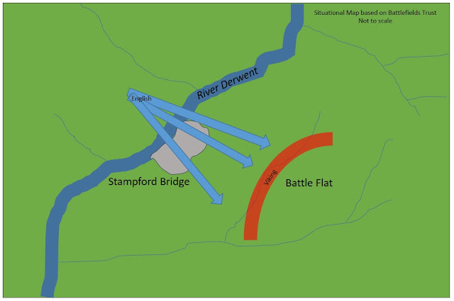 Map Of Stamford Bridge Taken From The Battlefield Trust Interpretation Of The Battle