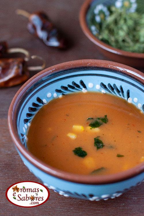 sopa de milho estilo mexicana