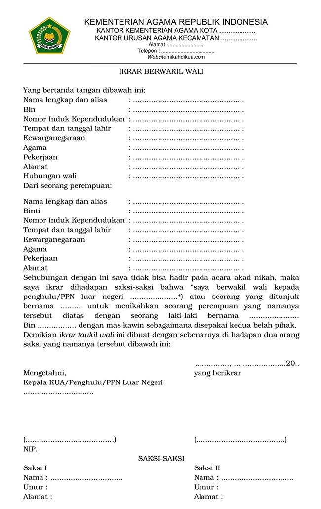 download surat kuasa wali nikah berwakil