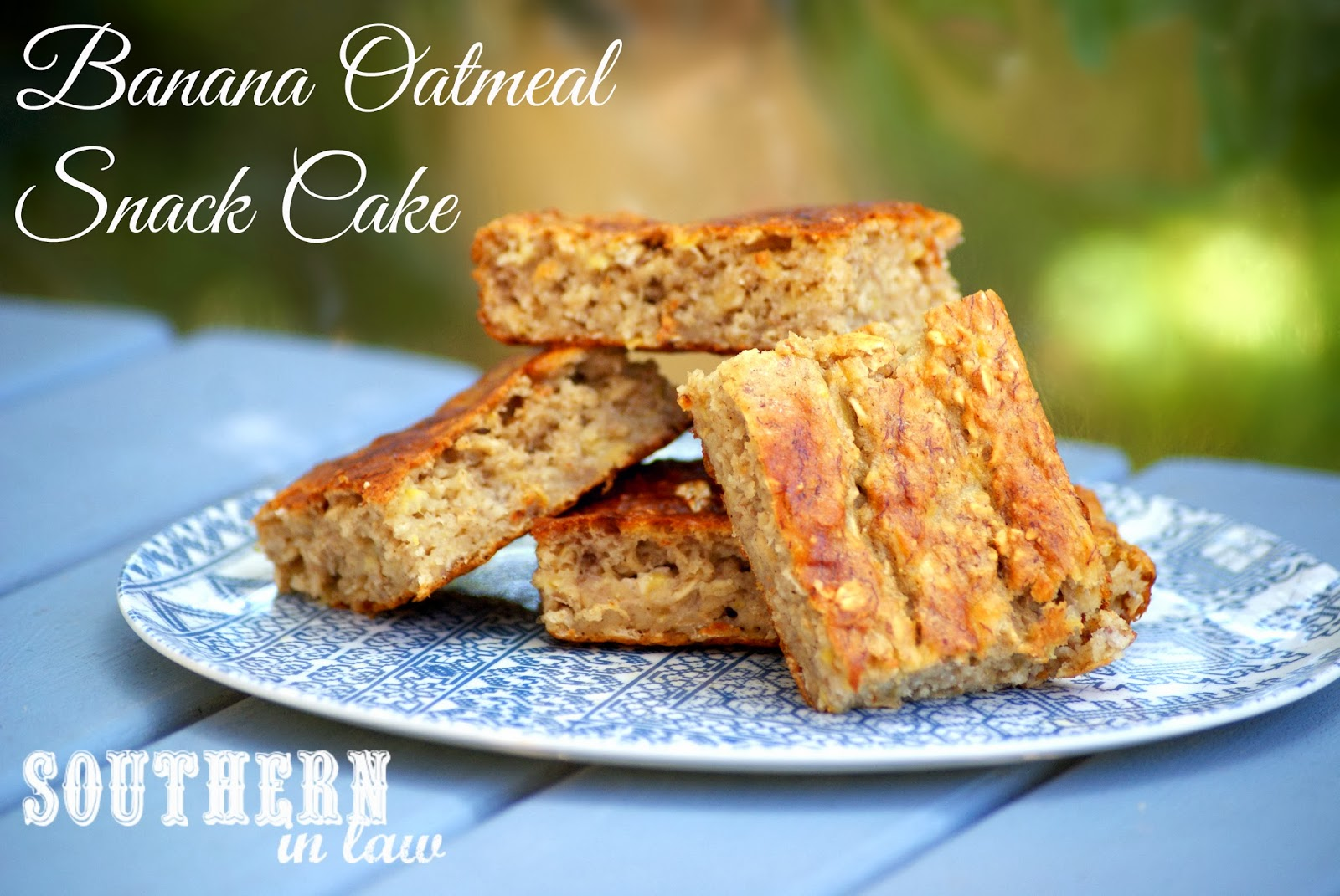 Low Fat Gluten Free Cake Recipes: Southern In Law: Recipe: Banana Oatmeal Snack Cake With