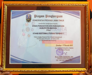 Dinas Pendidikan dan Kebudayaan Kabupaten Madun Terbaik 1 Tingkat Provinsi Jawa Timur