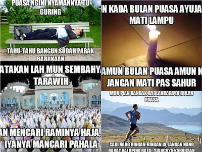 Meme Bahasa Banjar Edisi Khusus Bulan Ramadhan