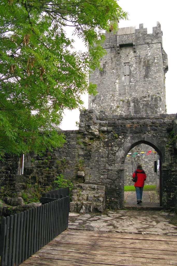 the front view of AUGHNANURE CASTLE, Oughterard, Co Galway, Ireland