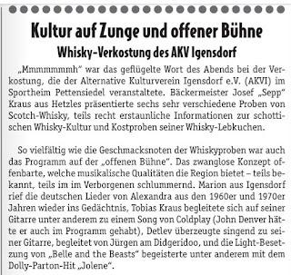 Pressebericht Wochenblatt Igensdorf
