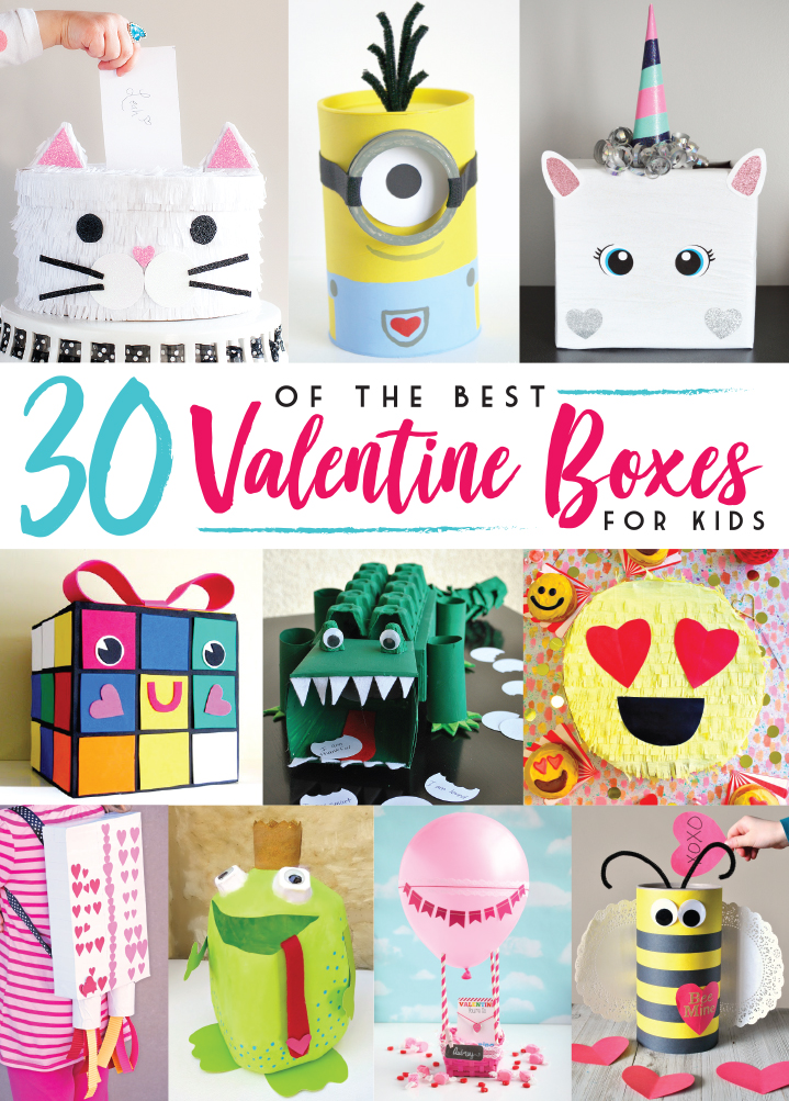 Get ready for Valentine's Day with 30 of the Best Valentine Boxes that kids are sure to love!
