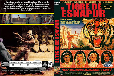 El tigre de Esnapur 1959 | Caratula | Der Tiger von Eschnapur